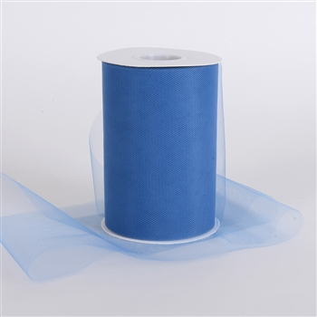Periwinkle Blue 6 Inch Tulle Roll 100 Yards