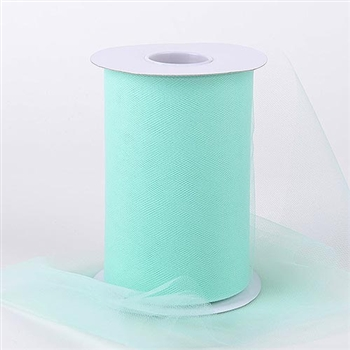 Mint Green 6 Inch Tulle Roll 100 Yards