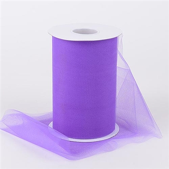 Purple 6 Inch Tulle Roll 100 Yards
