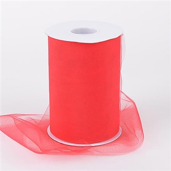 Red 6 Inch Tulle Roll 100 Yards