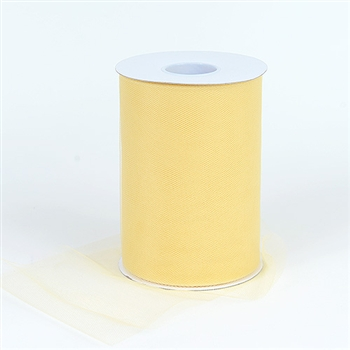 Gold 6 Inch Tulle Roll 100 Yards