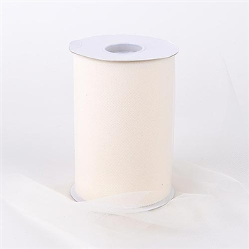 Ivory 6 Inch Tulle Roll 100 Yards