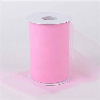 Pink 6 Inch Tulle Roll 100 Yards