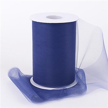 Navy Blue 6 Inch Tulle Roll 100 Yards