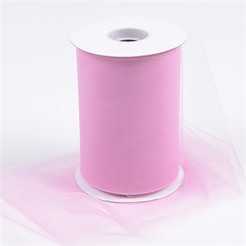 Rose Mauve 6 Inch Tulle Roll 100 Yards