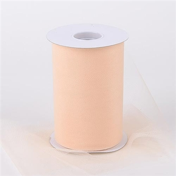 Beige 6 Inch Tulle Roll 100 Yards