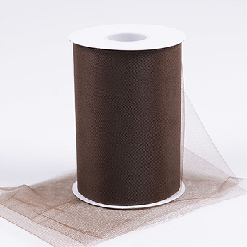 Brown 6 Inch Tulle Roll 100 Yards
