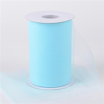 Aqua Blue 6 Inch Tulle Roll 100 Yards