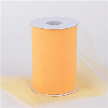 Light Gold 6 Inch Tulle Roll 100 Yards