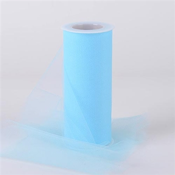 Light Blue 6 Inch Tulle Roll 25 Yards