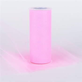 Hot Pink 6 Inch Tulle Roll 25 Yards