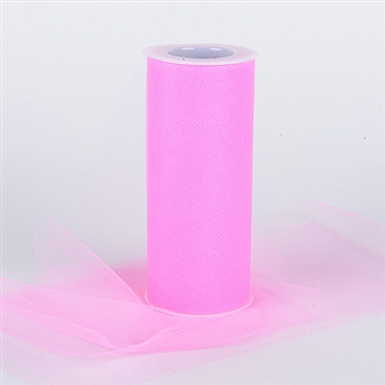 Paris Pink 6 Inch Tulle Roll 25 Yards