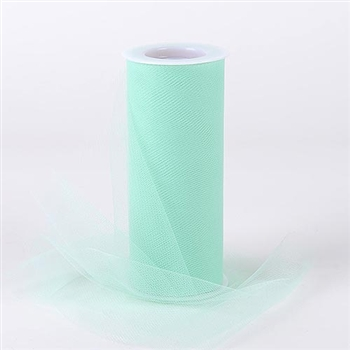 Mint Green 6 Inch Tulle Roll 25 Yards