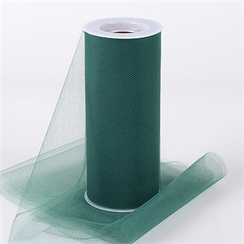 Hunter Green 6 Inch Tulle Roll 25 Yards