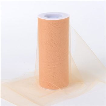 Pumpkin Gold 6 Inch Tulle Roll 25 Yards
