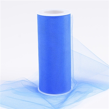 Royal Blue 6 Inch Tulle Roll 25 Yards