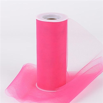 Fuchsia 6 Inch Tulle Roll 25 Yards