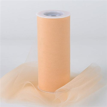Beige 6 Inch Tulle Roll 25 Yards