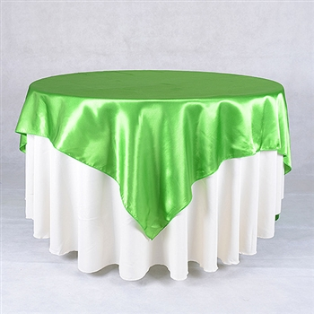 Apple Green 72 x 72 Inch Square Satin Overlays