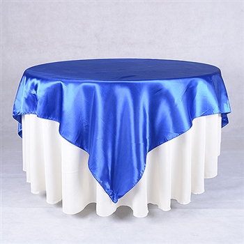 Royal Blue 72 x 72 Inch Square Satin Overlays