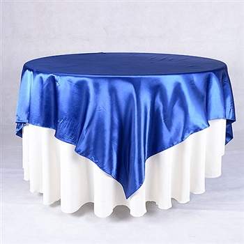 Navy Blue 72 x 72 Inch Square Satin Overlays