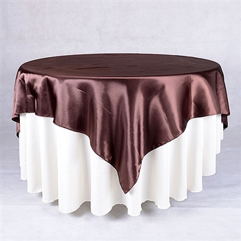 Chocolate Brown 72 x 72 Inch Square Satin Overlays