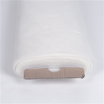 White 108 Inch Nylon Tulle Bolt 50 Yards