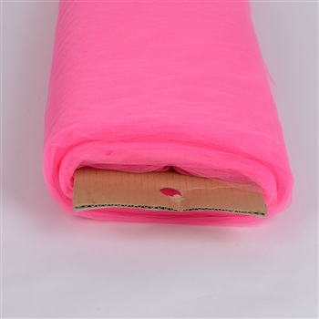 Hot Pink 108 Inch Nylon Tulle Bolt 50 Yards