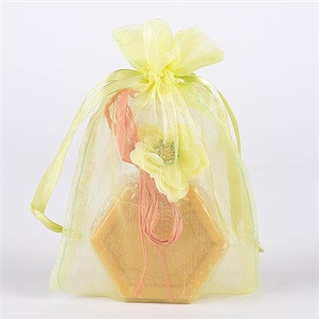 10 Baby Maize 8x14 Organza Favor Bags