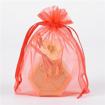 10 Red 8x14 Organza Favor Bags