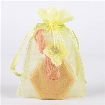 10 Baby Maize 8x14 Organza Favor Bags