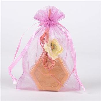 10 Light Pink 8x14 Organza Favor Bags