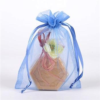 10 Light Blue 8x14 Organza Favor Bags