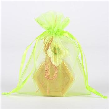 10 Apple Green 8x14 Organza Favor Bags