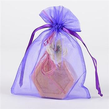 10 Purple 8x14 Organza Favor Bags