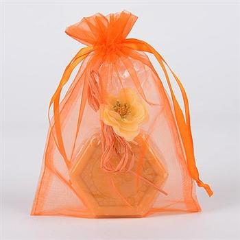 10 Orange 8x14 Organza Favor Bags