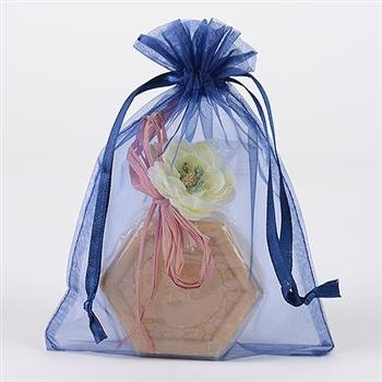 10 Navy Blue 8x14 Organza Favor Bags