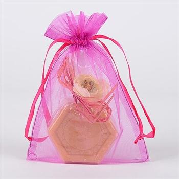 10 Fuchsia 8x14 Organza Favor Bags