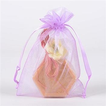 10 Lavender 8x14 Organza Favor Bags