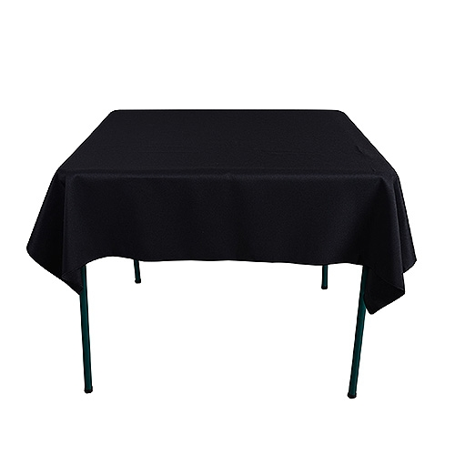 Black 85 x 85 Inch Square Tablecloths