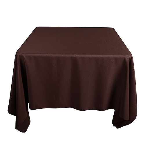 Chocolate Brown 85 x 85 Inch Square Tablecloths
