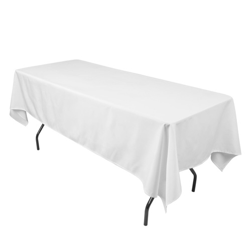 White 90 x 132 Inch Rectangle Tablecloths