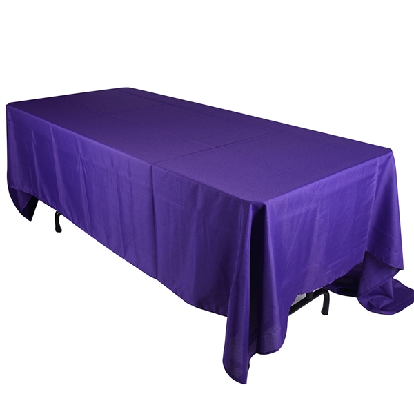 Purple 90 x 132 Inch Rectangle Tablecloths