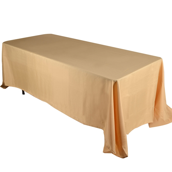 Gold 90 x 132 Inch Rectangle Tablecloths