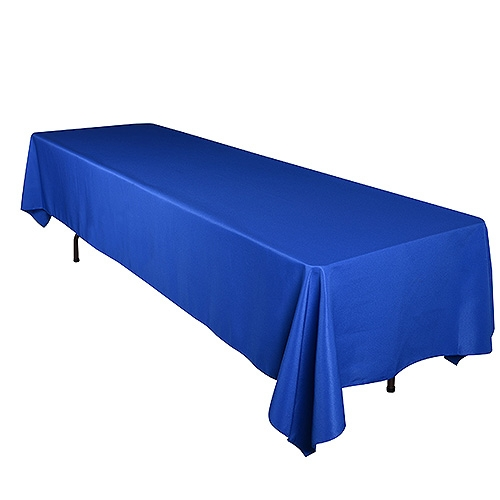 Royal Blue 90 x 132 Inch Rectangle Tablecloths