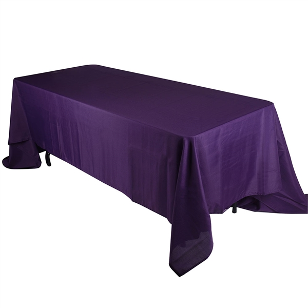 Plum 90 x 132 Inch Rectangle Tablecloths