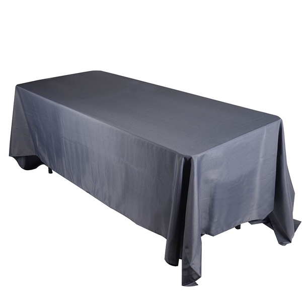 Charcoal 90 x 132 Inch Rectangle Tablecloths