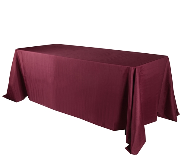 Burgundy 90 x 156 Inch Rectangle Tablecloths