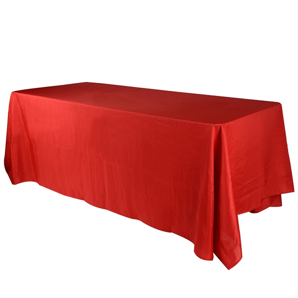 Red 90 x 156 Inch Rectangle Tablecloths