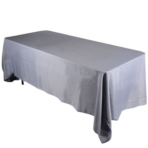 Silver 90 x 156 Inch Rectangle Tablecloths
